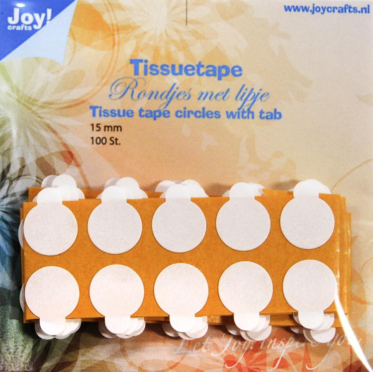 Tissuetape-rondjes met treklipje - Ø15 mm