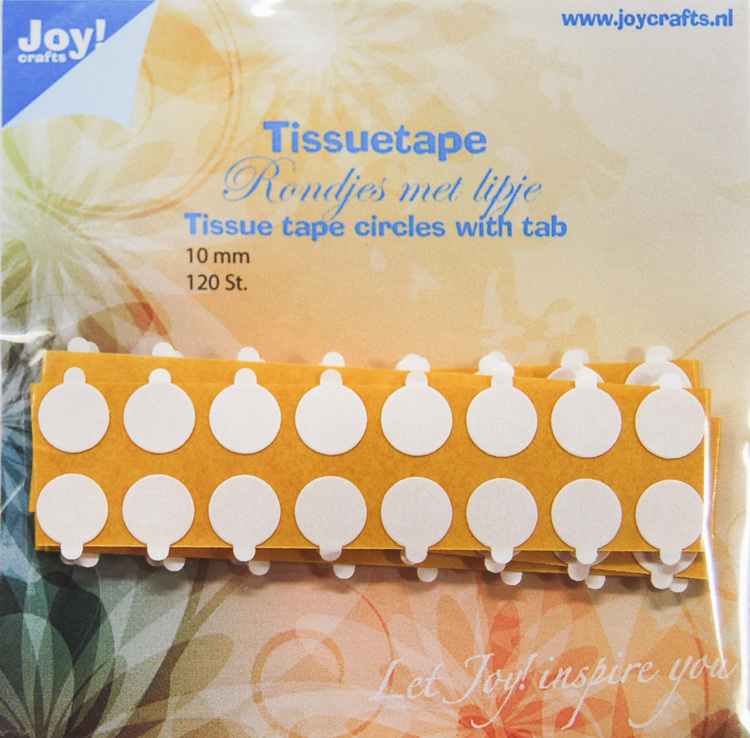 Tissuetape-rondjes met treklipje - Ø10 mm