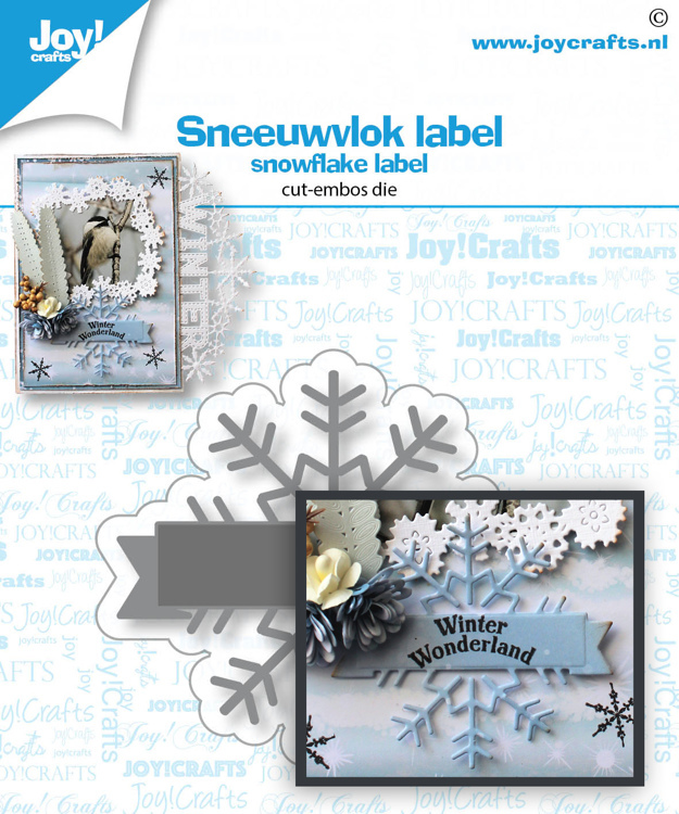 Stans-embosmal - Sneeuwvlok label