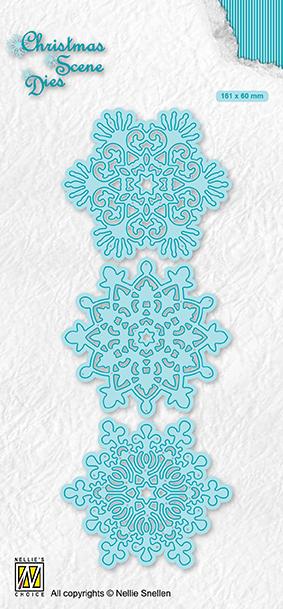CRSD017 Christmas Scene Dies Snowflakes
