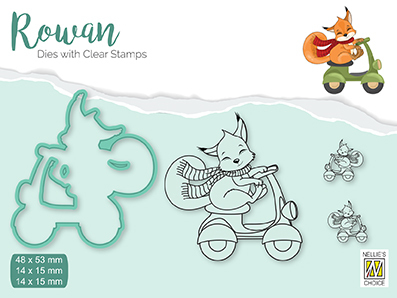 RDCS004 Rowan Dies&clear stamp sets Christmas animals Fox