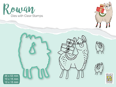 RDCS002 Rowan Dies&clear stamp sets Christmas animals Lama