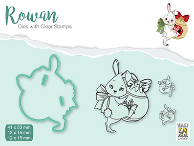 RDCS001 Rowan Dies&clear stamp sets Christmas animals rabbit