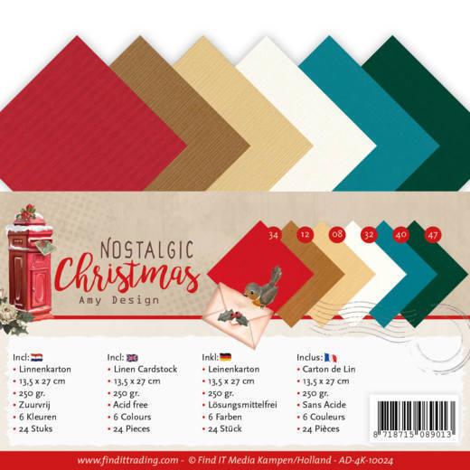 Linen Cardstock Pack - 4K - Amy Design - Nostalgic Christmas