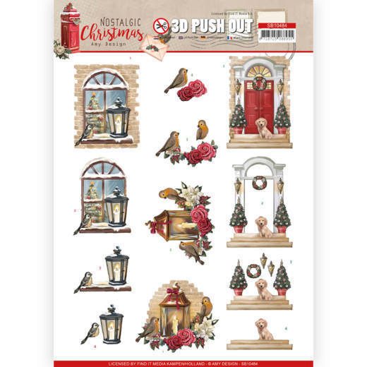 3D Push Out - Amy Design - Nostalgic Christmas - Warm Christmas