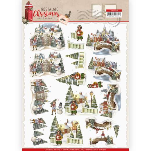3D cutting sheet - Amy Design - Nostalgic Christmas - Christmas Village