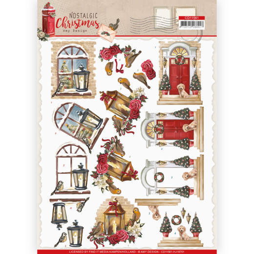 3D cutting sheet - Amy Design - Nostalgic Christmas - Warm Christmas