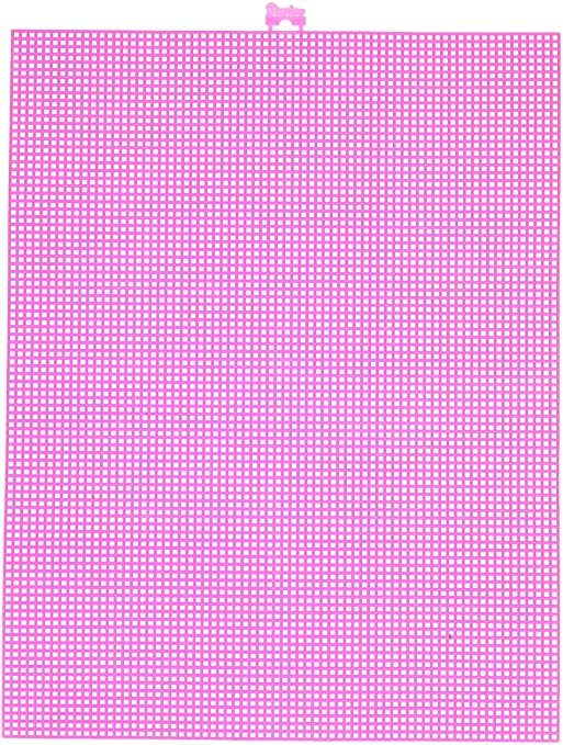Darice  Plastic Stramien 26x34cm Neon Pink Mesh:7
