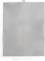 Darice  Plastic Stramien 26x34cm Silver Metallic Mesh:7