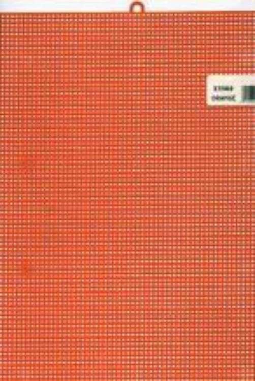 Darice  Plastic Stramien 26x34cm Oranje Mesh:7