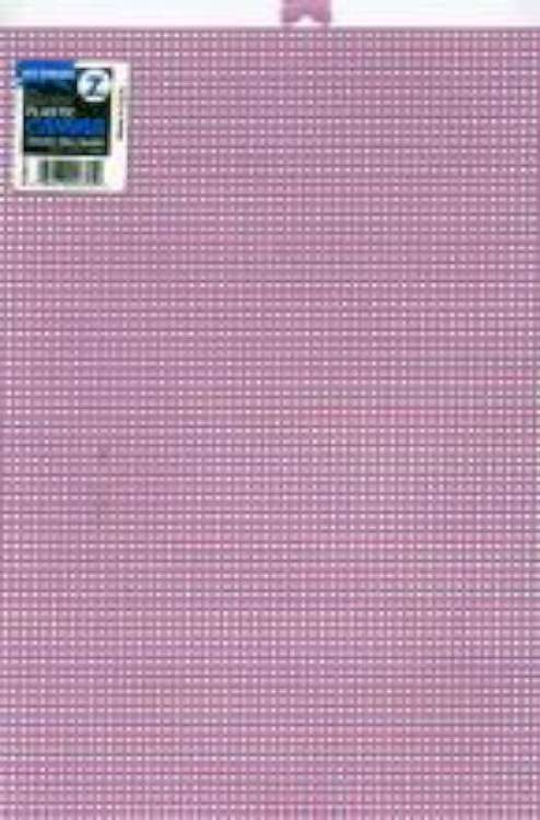 Darice  Plastic Stramien 26x34cm Lavendel Mesh:7