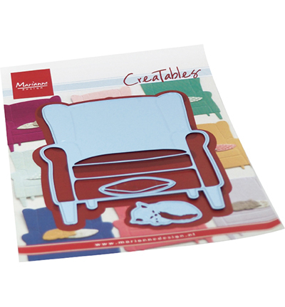 Creatable - Armchair & kitten