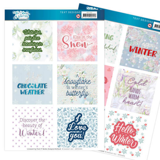 Text Designs - Jeanine's Art - The colours of winter (EN)