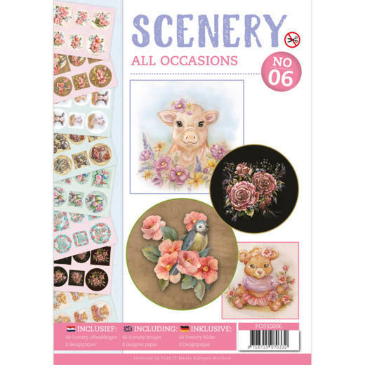 Push Out boek Scenery 6 - All Occasions