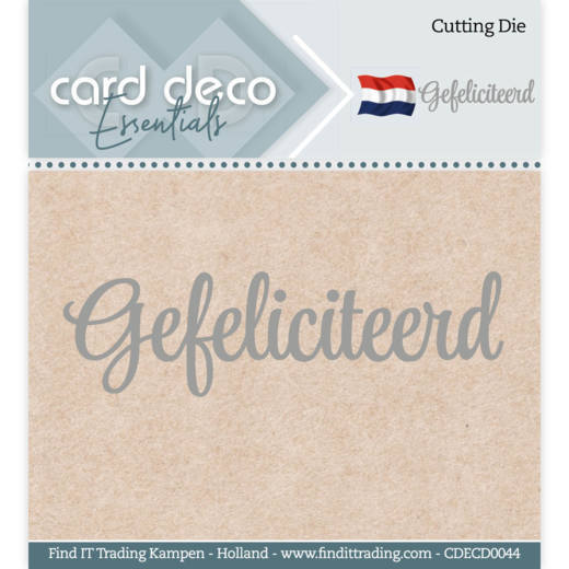 Card Deco Essentials - Cutting Dies - Gefeliciteerd