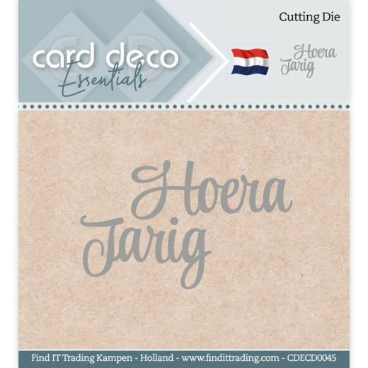 Card Deco Essentials - Cutting Dies - Hoera Jarig