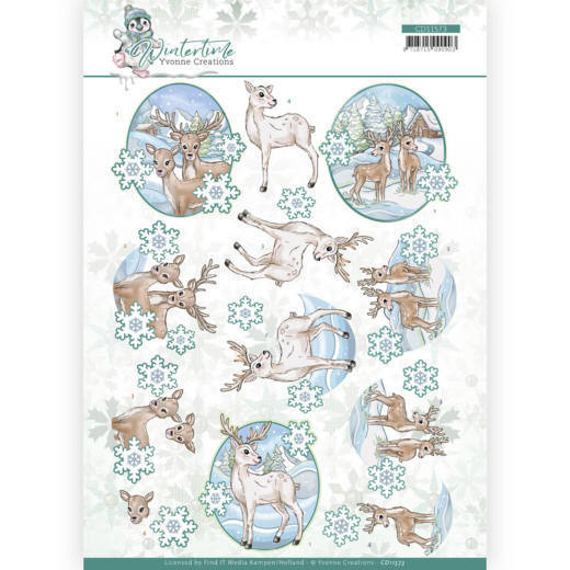 3D cutting sheet - Yvonne Creations - Winter Time - Deer