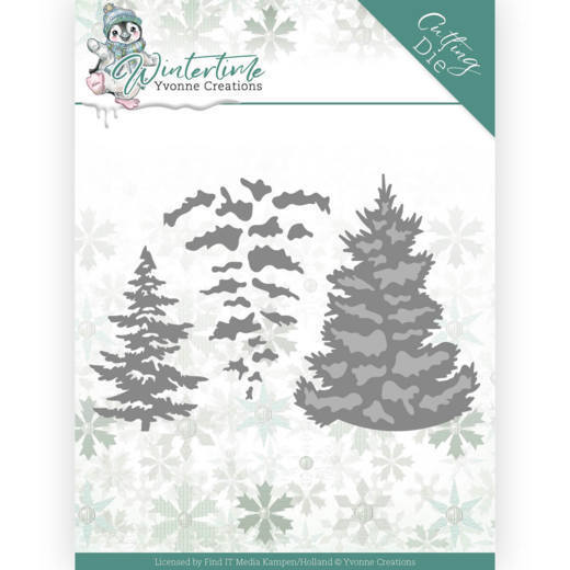 Dies - Yvonne Creations - Winter Time - Pine Tree