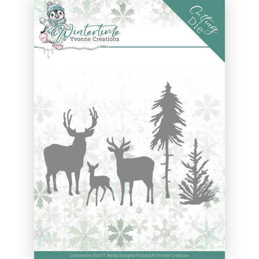 Dies - Yvonne Creations - Winter Time - Deer in the Forest