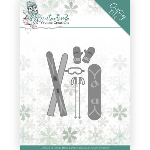 Dies - Yvonne Creations - Winter Time - Ski Accessoires