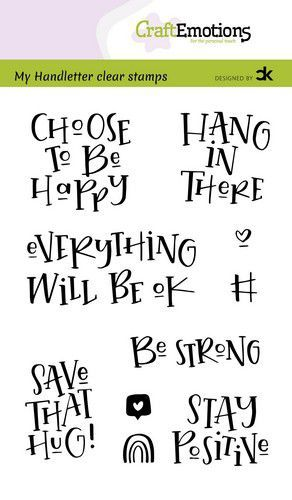 CraftEmotions clearstamps A6 - handletter - Choose to be happy (Eng) Carla Kamphuis (10-20)