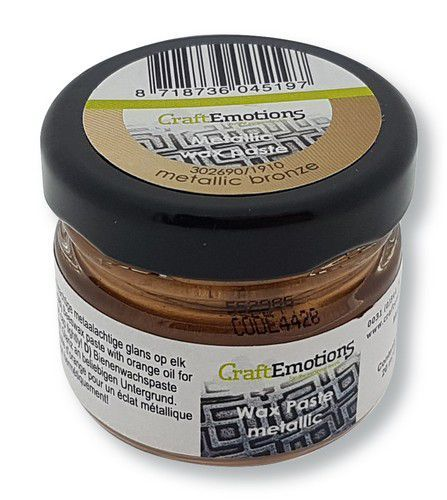 CraftEmotions Wax Paste metallic - brons 20 ml (09-20)