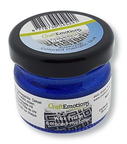 CraftEmotions Wax Paste metallic colored - blauw 20 ml (09-20)