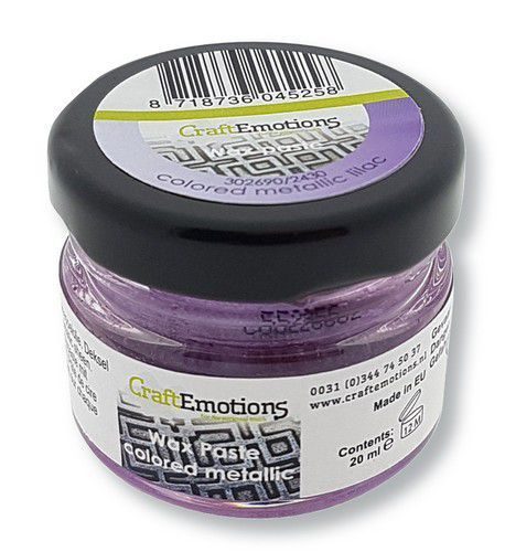 CraftEmotions Wax Paste metallic colored - lila 20 ml (09-20)