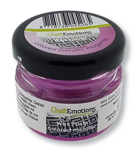CraftEmotions Wax Paste metallic colored - magenta 20 ml (09-20)