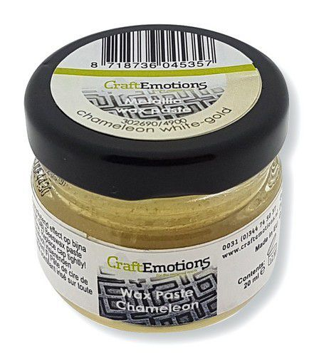 CraftEmotions Wax Paste chameleon - witgoud 20 ml (09-20)