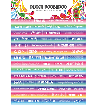 DDBD Dutch Sticker Art Text Mandalas