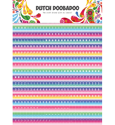 DDBD Dutch Sticker Art Alphabet