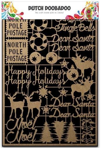 Dutch Doobadoo Dutch Paper Art Kraft - Kerstmis A5 479.002.012