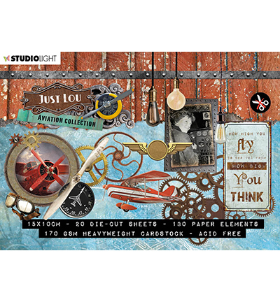 Just Lou - Die Cut Block - Aviation Collection - nr.03