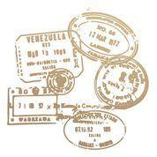 Passport Stamps Mini Stamp (1pc)