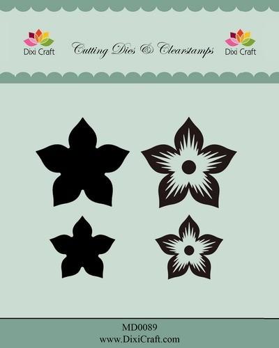 Dixi Craft - Die met clearstamp - Flower - MD0089