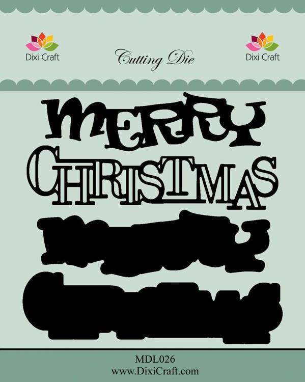 Dixi Craft Merry Christmas Metal Dies (MDL026)