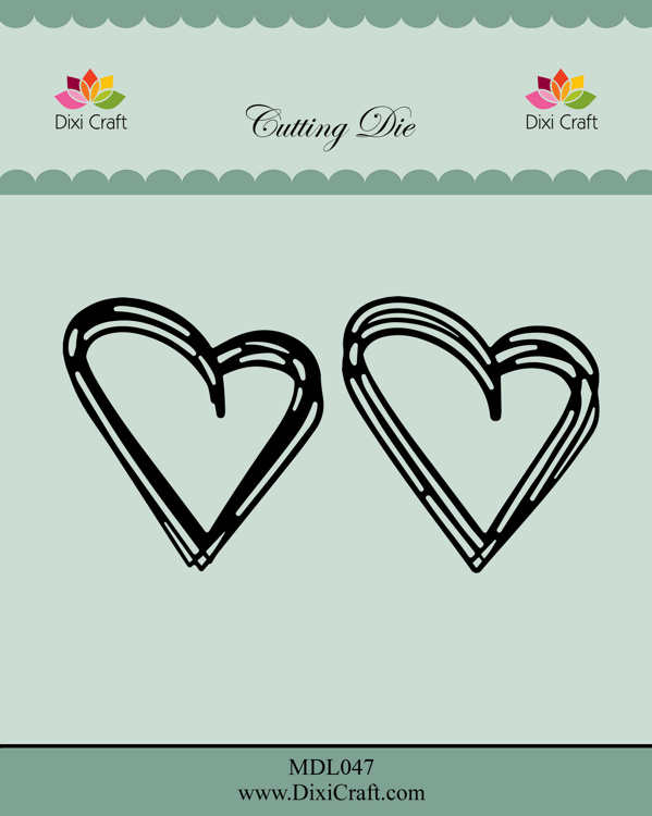 Dixi Craft Sketch Hearts Dies (MDL047)