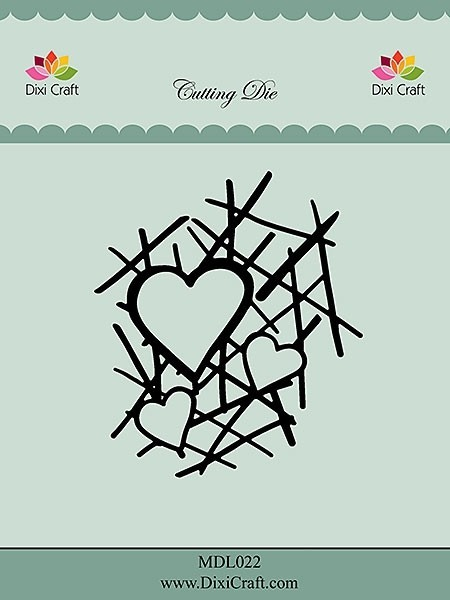 MDL022 Dixie Craft Dies grid with hearts
