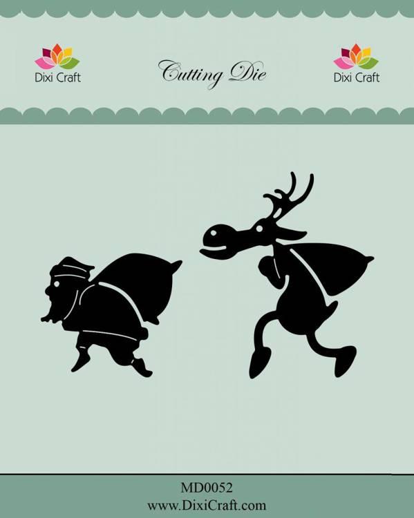 Dixie Craft  Rhudolf & Santa Die  Christmas