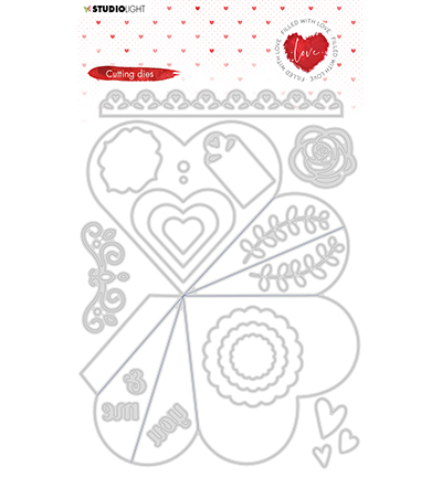 Studio Light - Cutting Die - Filled With love - nr.353