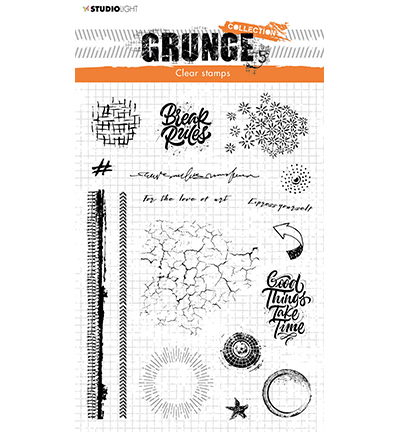 Studio Light - Clear Stamp - Grunge Collection - nr.502