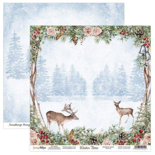ScrapBoys Winter Time paper sheet DZ WITI-01 190gr 30,5 x 30,5cm (10-20)