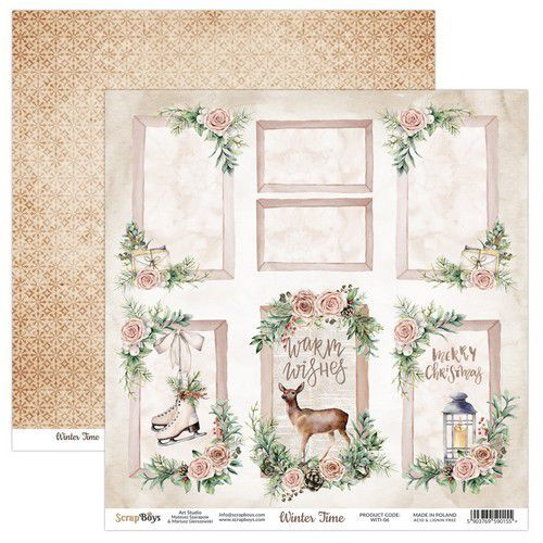 ScrapBoys Winter Time paper sheet DZ WITI-06 190gr 30,5 x 30,5cm (10-20)