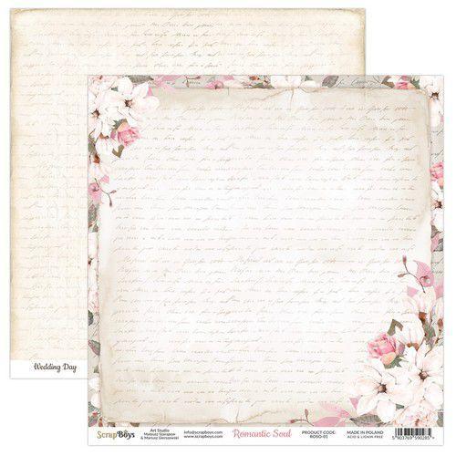 ScrapBoys Romantic Soul paper sheet DZ ROSO-01 190gr 30,5 x 30,5cm (10-20)