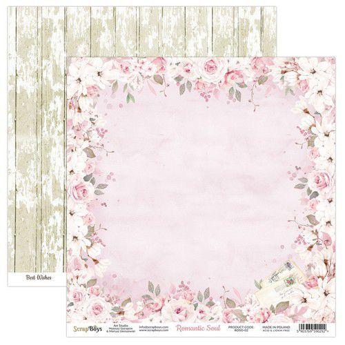 ScrapBoys Romantic Soul paper sheet DZ ROSO-02 190gr 30,5 x 30,5cm (10-20)