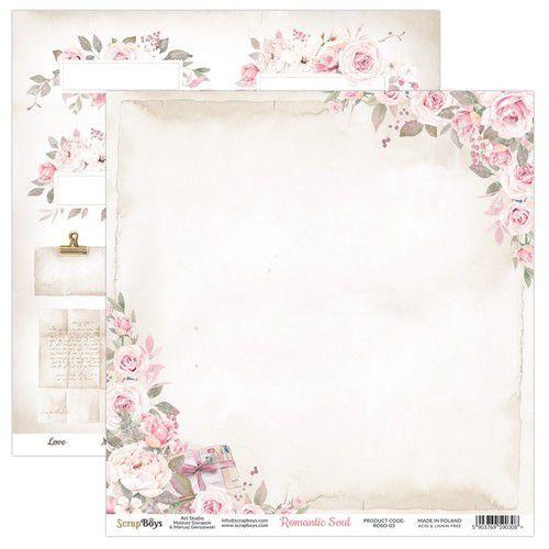 ScrapBoys Romantic Soul paper sheet DZ ROSO-03 190gr 30,5 x 30,5cm (10-20)