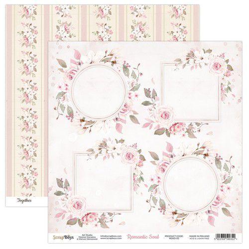 ScrapBoys Romantic Soul paper sheet DZ ROSO-05 190gr 30,5 x 30,5cm (10-20)