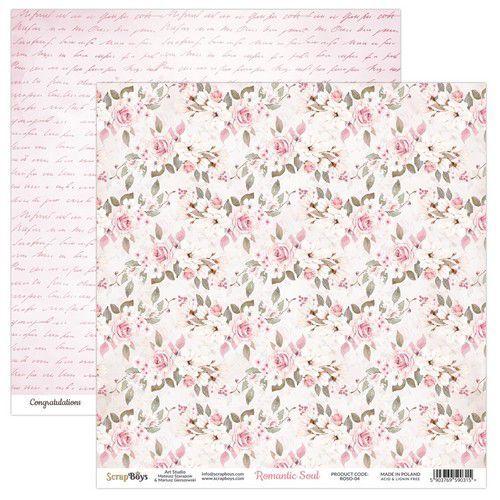 ScrapBoys Romantic Soul paper sheet DZ ROSO-04 190gr 30,5 x 30,5cm (10-20)