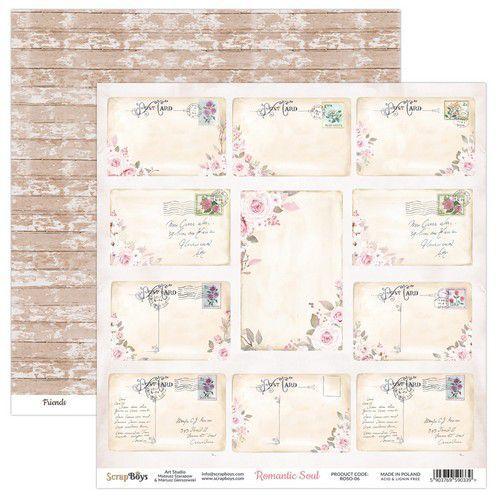 ScrapBoys Romantic Soul paper sheet DZ ROSO-06 190gr 30,5 x 30,5cm (10-20)